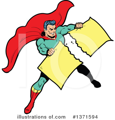 Royalty-Free (RF) Super Hero Clipart Illustration by Clip Art Mascots - Stock Sample #1371594