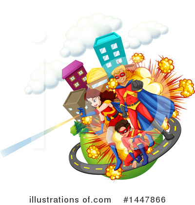 Royalty-Free (RF) Super Hero Clipart Illustration by Graphics RF - Stock Sample #1447866