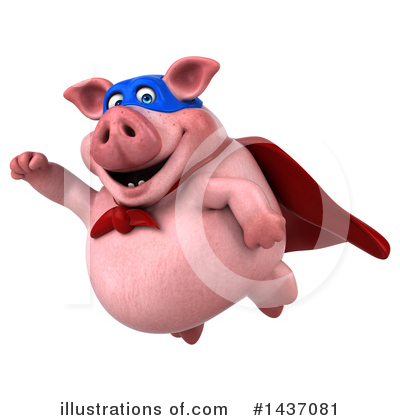 Super Pig Clipart #1437081 by Julos