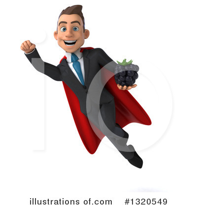 Royalty-Free (RF) Super White Businessman Clipart Illustration by Julos - Stock Sample #1320549