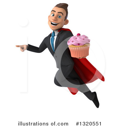 Royalty-Free (RF) Super White Businessman Clipart Illustration by Julos - Stock Sample #1320551