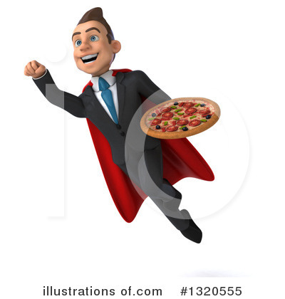 Royalty-Free (RF) Super White Businessman Clipart Illustration by Julos - Stock Sample #1320555