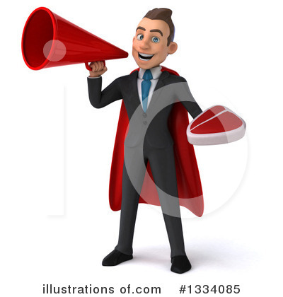 Royalty-Free (RF) Super White Businessman Clipart Illustration by Julos - Stock Sample #1334085
