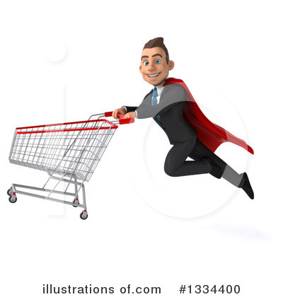 Royalty-Free (RF) Super White Businessman Clipart Illustration by Julos - Stock Sample #1334400