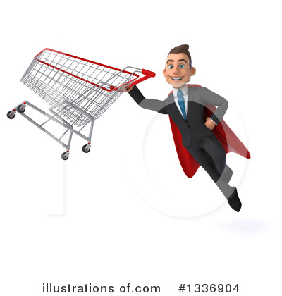 Royalty-Free (RF) Super White Businessman Clipart Illustration by Julos - Stock Sample #1336904
