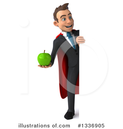 Royalty-Free (RF) Super White Businessman Clipart Illustration by Julos - Stock Sample #1336905