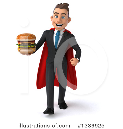 Royalty-Free (RF) Super White Businessman Clipart Illustration by Julos - Stock Sample #1336925