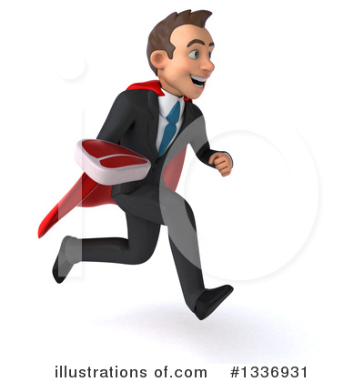 Royalty-Free (RF) Super White Businessman Clipart Illustration by Julos - Stock Sample #1336931