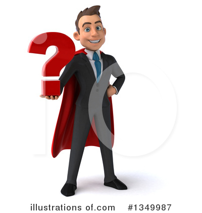 Super White Businessman Clipart #1349987 by Julos