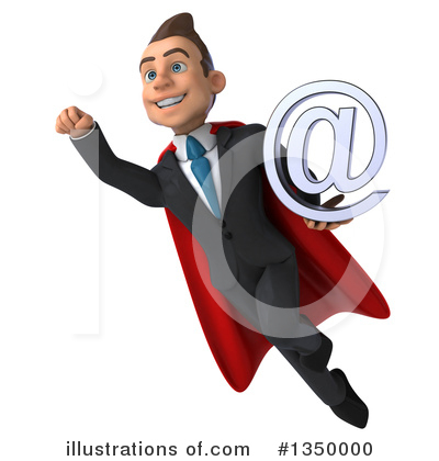 Super White Businessman Clipart #1350000 by Julos