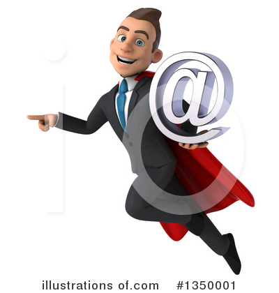 Super White Businessman Clipart #1350001 by Julos