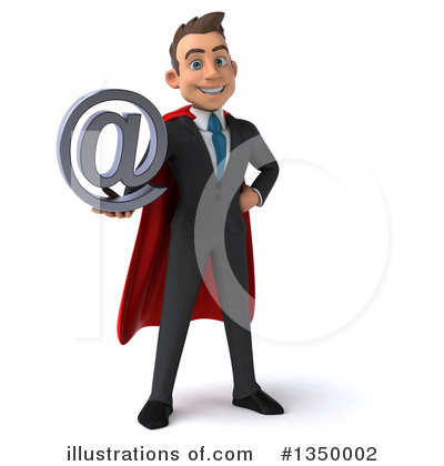 Super White Businessman Clipart #1350002 by Julos