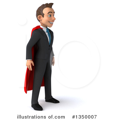 Super White Businessman Clipart #1350007 by Julos