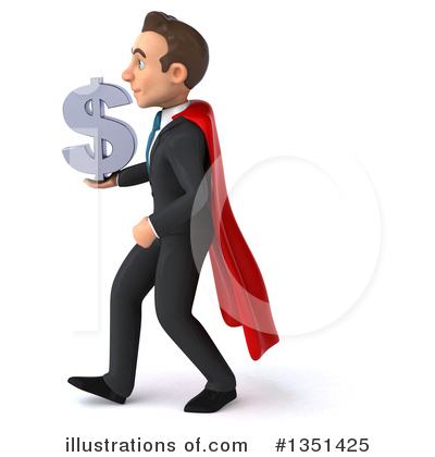 Super White Businessman Clipart #1351425 by Julos