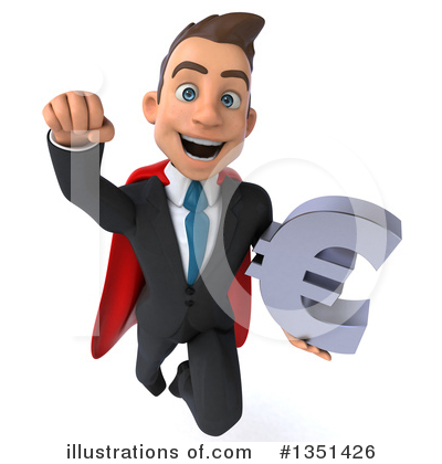 Super White Businessman Clipart #1351426 by Julos