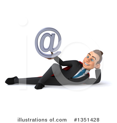 Super White Businessman Clipart #1351428 by Julos