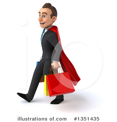 Super White Businessman Clipart #1351435 by Julos