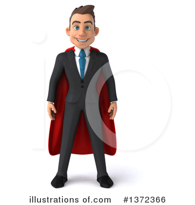Super White Businessman Clipart #1372366 by Julos