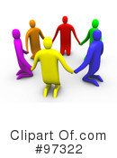 Royalty-Free (RF) Support Group Clipart Illustration #97322