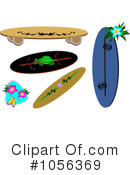 Royalty-Free (RF) Surfboard Clipart Illustration #1056369