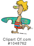 Royalty-Free (RF) Surfer Clipart Illustration #1048762
