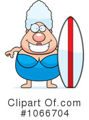 Royalty-Free (RF) Surfer Clipart Illustration #1066704