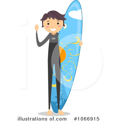 Surfer Clipart #1066915 by BNP Design Studio