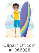 Royalty-Free (RF) Surfer Clipart Illustration #1066928