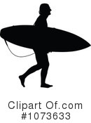 Royalty-Free (RF) Surfer Clipart Illustration #1073633
