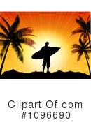 Royalty-Free (RF) Surfer Clipart Illustration #1096690