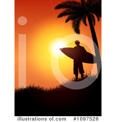 Surfer Clipart #1097526 by KJ Pargeter