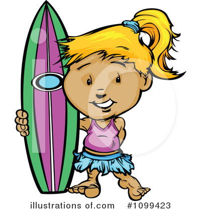 Royalty-Free (RF) Surfer Clipart Illustration by Chromaco - Stock Sample #1099423