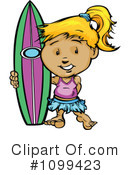 Royalty-Free (RF) Surfer Clipart Illustration #1099423