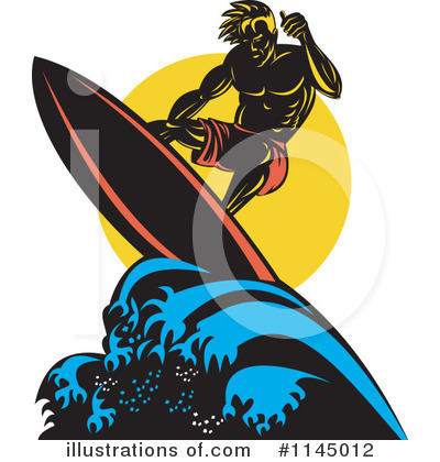 Surfer Clipart #1145012 by patrimonio