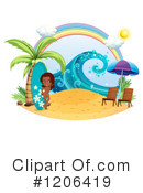 Royalty-Free (RF) Surfer Clipart Illustration #1206419