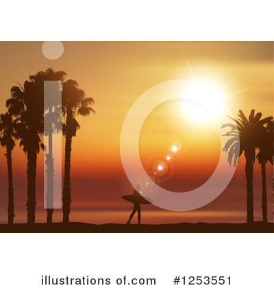 Royalty-Free (RF) Surfer Clipart Illustration by KJ Pargeter - Stock Sample #1253551