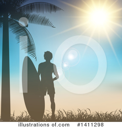 Surfer Clipart #1411298 by KJ Pargeter