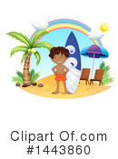 Royalty-Free (RF) Surfer Clipart Illustration #1443860