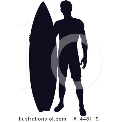 Royalty-Free (RF) Surfer Clipart Illustration by AtStockIllustration - Stock Sample #1448119