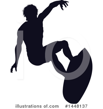 Surfer Clipart #1448137 by AtStockIllustration
