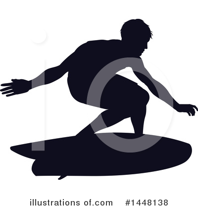 Surfer Clipart #1448138 by AtStockIllustration