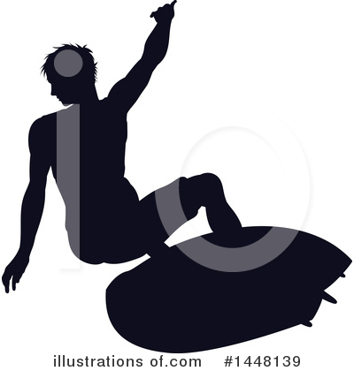 Royalty-Free (RF) Surfer Clipart Illustration by AtStockIllustration - Stock Sample #1448139