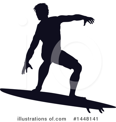 Surfer Clipart #1448141 by AtStockIllustration