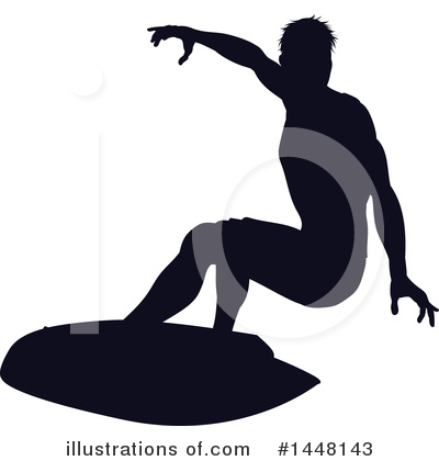 Surfer Clipart #1448143 by AtStockIllustration