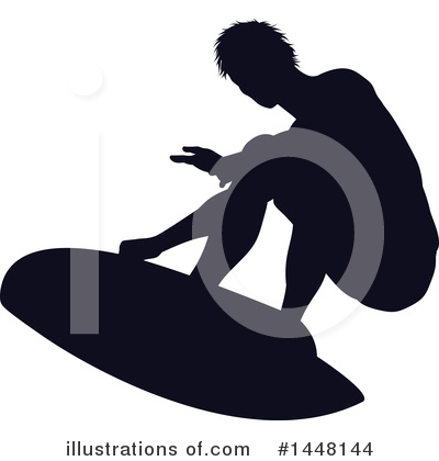 Surfer Clipart #1448144 by AtStockIllustration