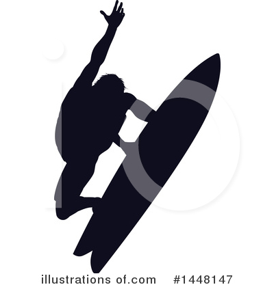 Surfer Clipart #1448147 by AtStockIllustration