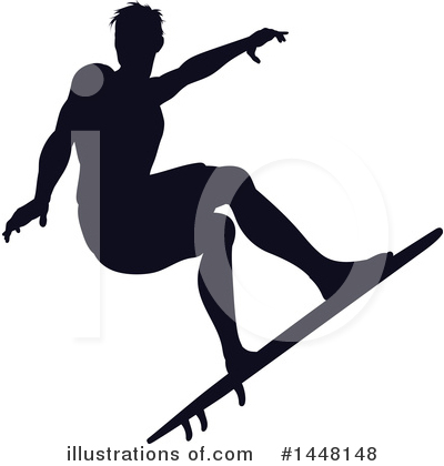 Surfer Clipart #1448148 by AtStockIllustration