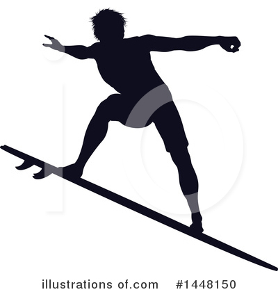 Surfer Clipart #1448150 by AtStockIllustration