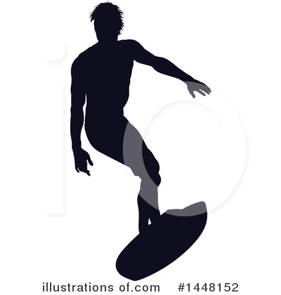 Surfer Clipart #1448152 by AtStockIllustration
