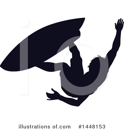 Surfer Clipart #1448153 by AtStockIllustration